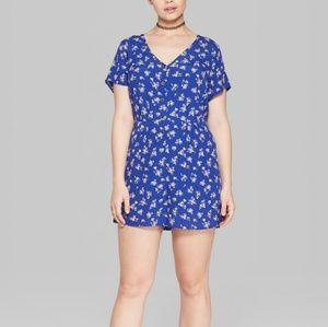 NWT Wild Fable blue romper